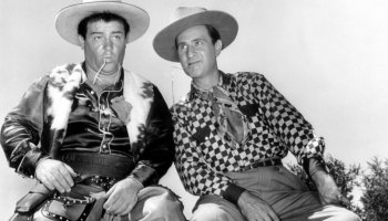 Lou Costello and Bud Abbott in Ride 'Em Cowboy