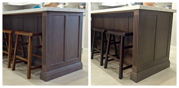 DIY General Finishes Java Gel Stain Makeover on our Counter Stools