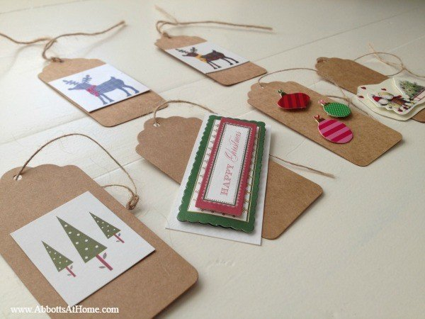 Simple Christmas Card Ornaments