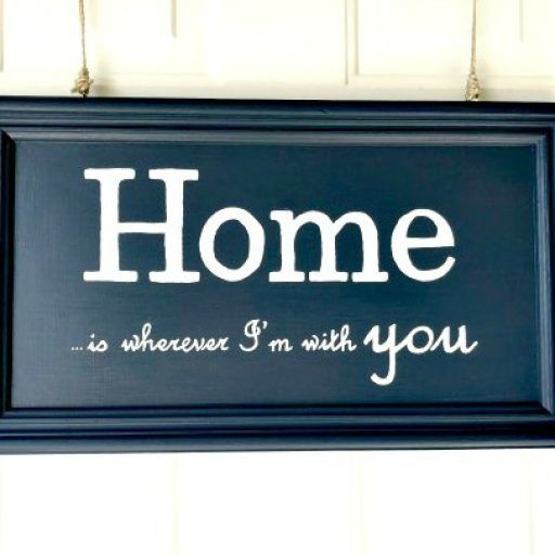 Abbotts At Home Painted Sign Logo