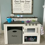 A $50 White Kids Play Kitchen DIY with Farmhouse Style