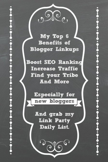 Want to know the top benefits to a blogger linkup? Link parties help blogs in some key ways when it comes to your Google SEO ranking and Pinterest traffic? Here are my top reasons for joining blogger linkups and my link party list.