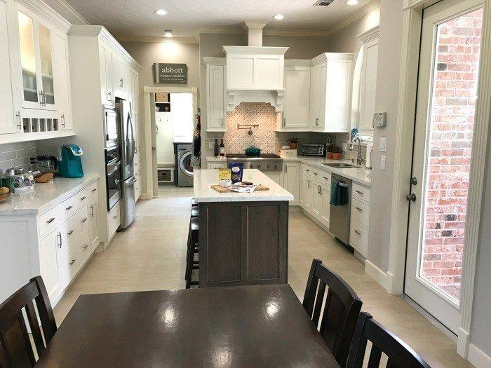 White Kitchen Remodel with Silestone Lusso Quartz and Starmark Cabinets