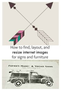 How to find, layout, resize internet images for your DIY art and furniture