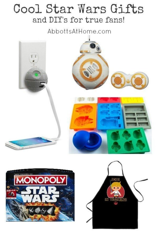 Cool Star Wars Gifts for Birthdays, Christmas, or any time. Perfect for the fanboy or fangirl. #StarWars #Gift #Christmas