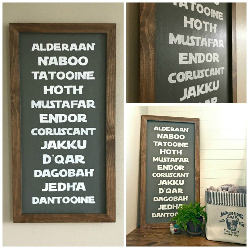 DIY Planets Wood Star Wars Sign