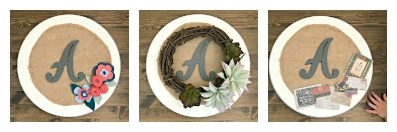 12 Pretty Ideas for a Burlap Sign DIY Wreath with Initial