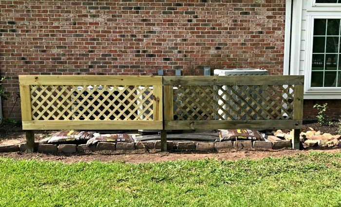 DIY Removable Outdoor Air Conditioner Screen