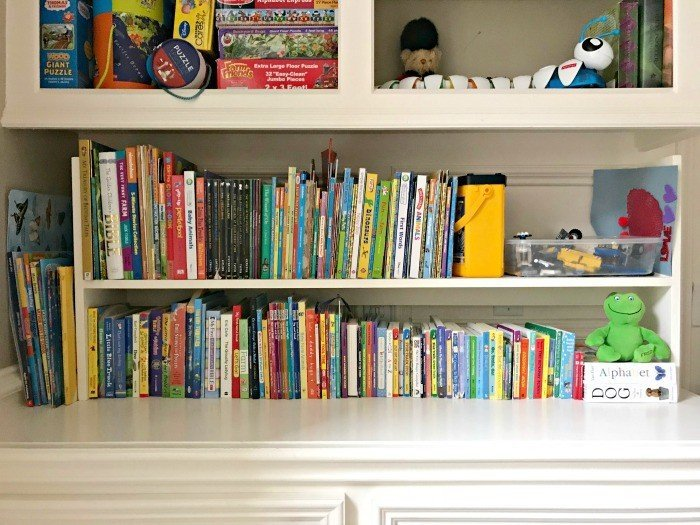 My 1-Day DIY Kids Book Storage Idea