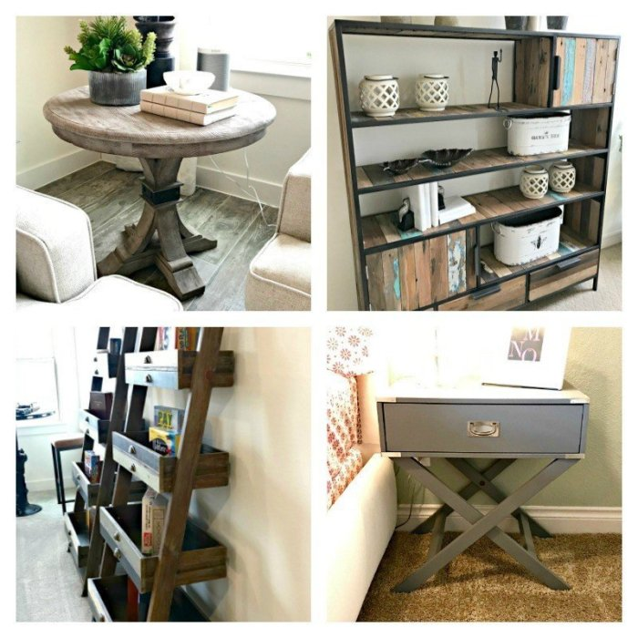 4 pieces of furniture I use for DIY furniture design inspiration. Interior and Furniture Design Inspiration Pictures from Model Homes and Local Stores.
