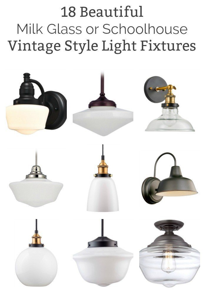 18 Of The Best Vintage Style Milk Glass And Schoolhouse Light Fixtures On  Amazon. While