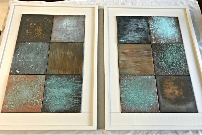 Build a DIY Chunky Wooden Frame for a canvas, print, or anything. You'll save money and get a custom size for your wall decor. #AbbottsAtHome #customframe #DIYframe