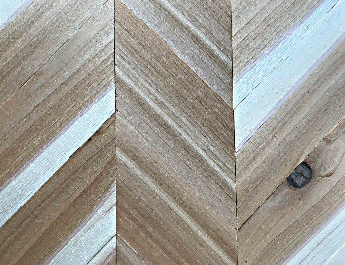 DIY Chevron Wood Wall Art Tutorial - Abbotts At Home
