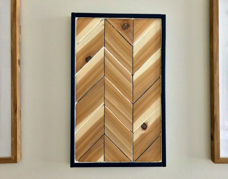 DIY Chevron Wood Wall Art Tutorial