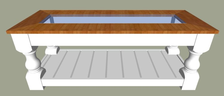 Glass and Wood Top. The printable build plans for my popular Modern Farmhouse Bench are now available. Includes 5 beautiful wood top options to turn it into a pretty Farmhouse coffee table instead. Get the DIY Farmhouse Coffee Table Plans today. #AbbottsAtHome #Bench #CoffeeTable #DIYFurniture #FurniturePlans