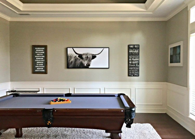 Here's a peek at the rooms I've never really shown you. And, the story behind why I haven't done their room reveals yet. A couple just need a few finishing touches. Like our family game room. But, they're all full of Traditional Home Room Makeover Ideas. #AbbottsAtHome #GameRoom #PlayRoom #PoolTable #TraditionalHome #ManCave
