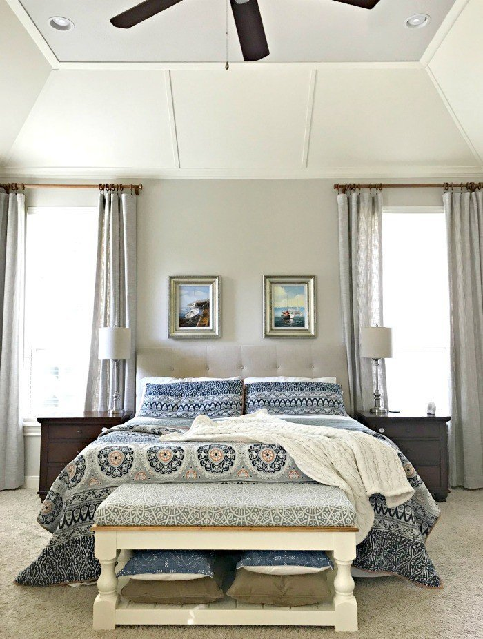 Here's a peek at the rooms I've never really shown you. And, the story behind why I haven't done their room reveals yet. A couple just need a few finishing touches. Like our master bedroom. But, they're all full of Traditional Home Room Makeover Ideas. #AbbottsAtHome #MasterBedroom #BedroomIdeas #FarmhouseStyle #TraditionalHome #MasterBedroomIdeas #VaultedCeiling