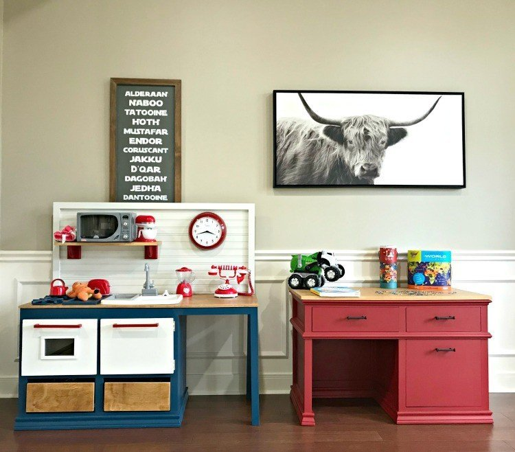 Light or white walls can make a home feel more open and cheerful. I love our new light walls. But I still love bold color in our home too. Here's 12 fun examples of pops of color in a home with light walls. #PopOfColor #BoldColor #PaintColors #BeautifulHomes #InteriorDesign #AbbottsAtHome