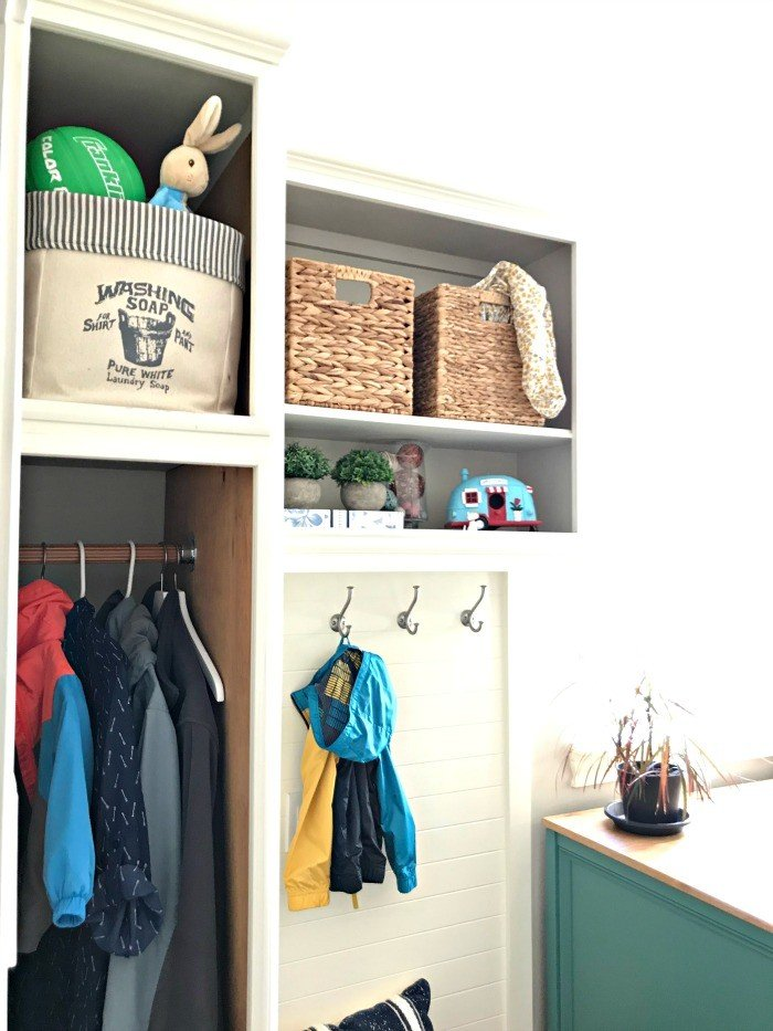 How I Added a Mudroom to our Laundry Room