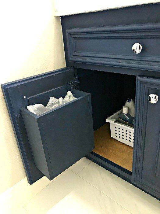 Build a DIY Cabinet Door Mounted Garbage Can