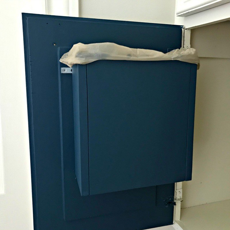Build a DIY Cabinet Door Mounted Garbage Can