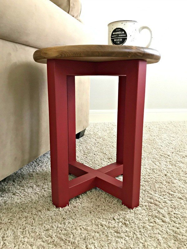 $20 DIY Easy Stool Seating OR DIY Round Side Table
