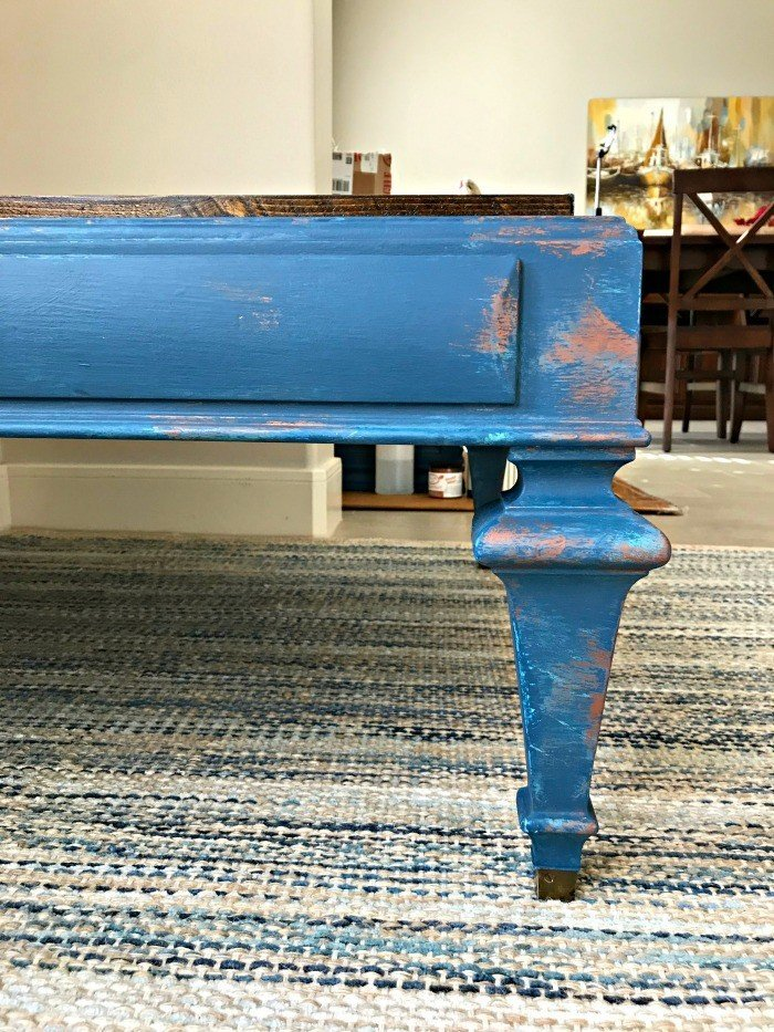 Blue and Copper Chalk Paint DIY Furniture Makeover