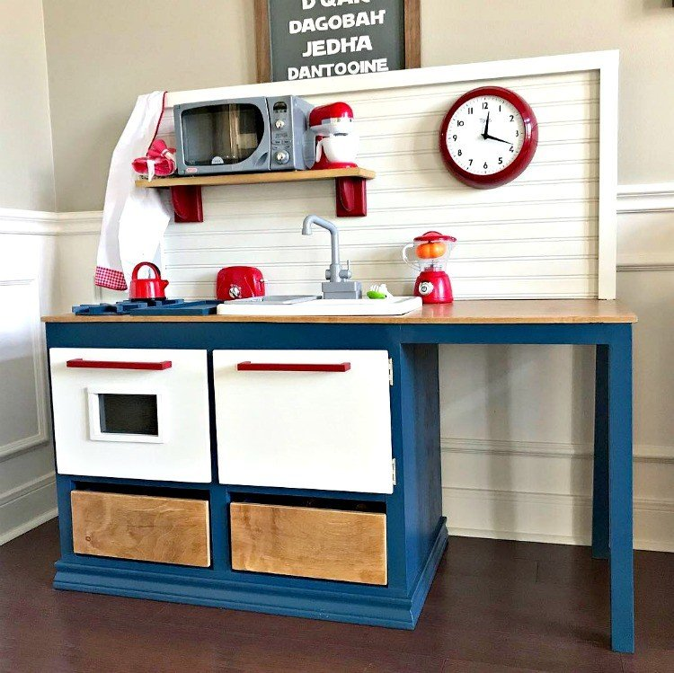 Kids Play Kitchen DIY Woodworking Plan