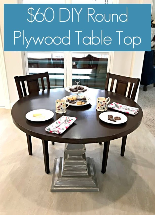 diy round table top using plywood
