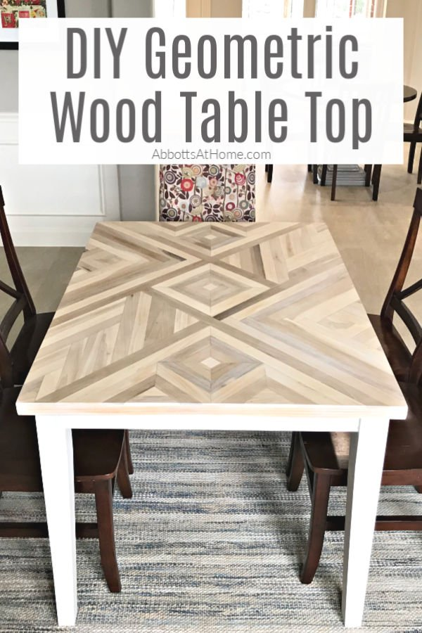 diy geometric wood table top how to