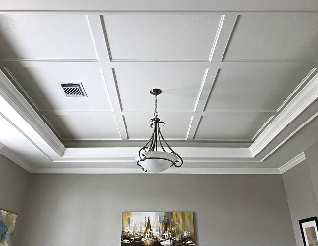 simple diy coffered ceiling design