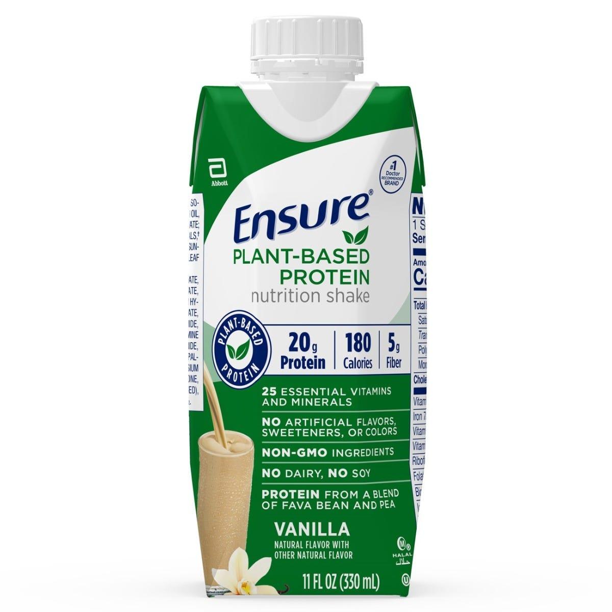Ensure Plant-Based Protein Nutrition Shake / Vanilla / 11 ...
