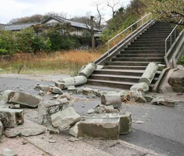 Earth Quake In Japan Injures Five People