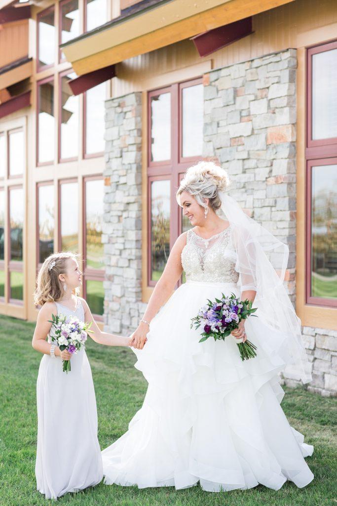 Outdoor Fall Wedding at Bluestem Center Moorhead