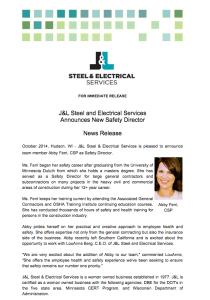 J&L Safety Press Release