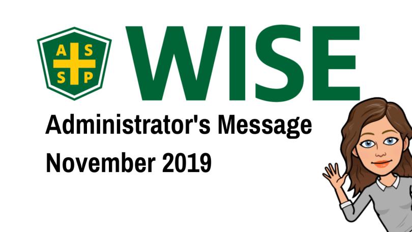 WISE Admin Update November