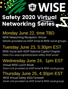 WISE Safety 2020 virtual events