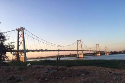 Bridge in Tete City over the Zambezi River