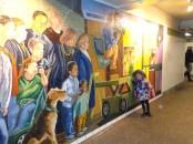 Belle mosaique dans les couloirs du métro