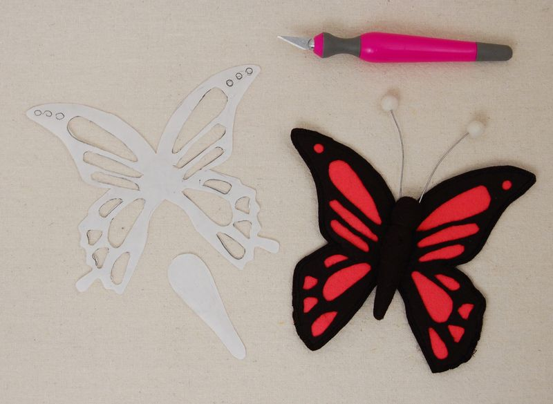 Cutwork felt butterfly