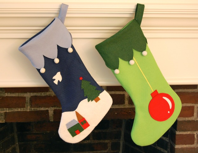 Making Christmas Stockings Whileshenaps Inspiration Christmas Stocking Sewing Pattern