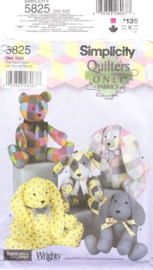 BUTTERICK Sewing /& Craft Patterns for BAGS HOME DECOR Choice STUFFED TOYS /& M