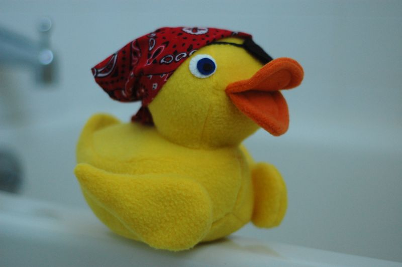 Pirate rubber duck plush