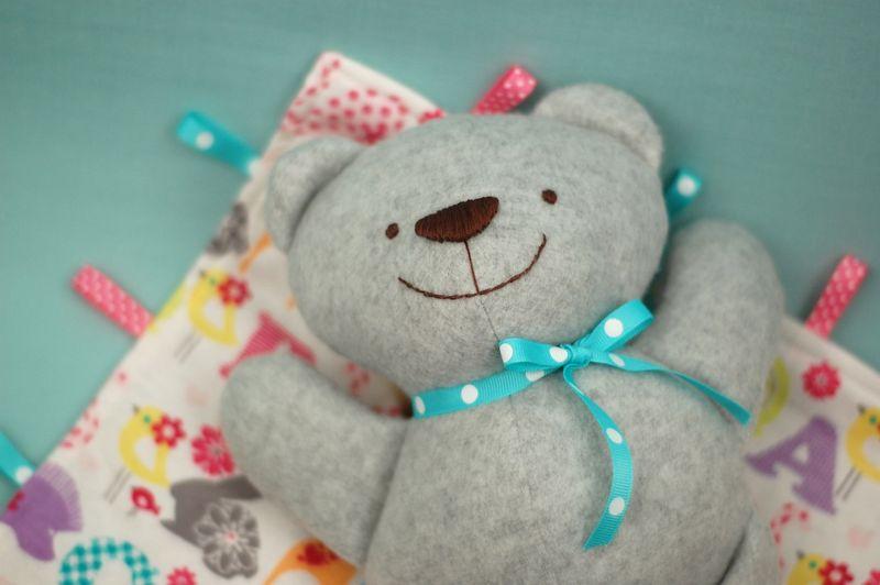 Teddy on the Blankie