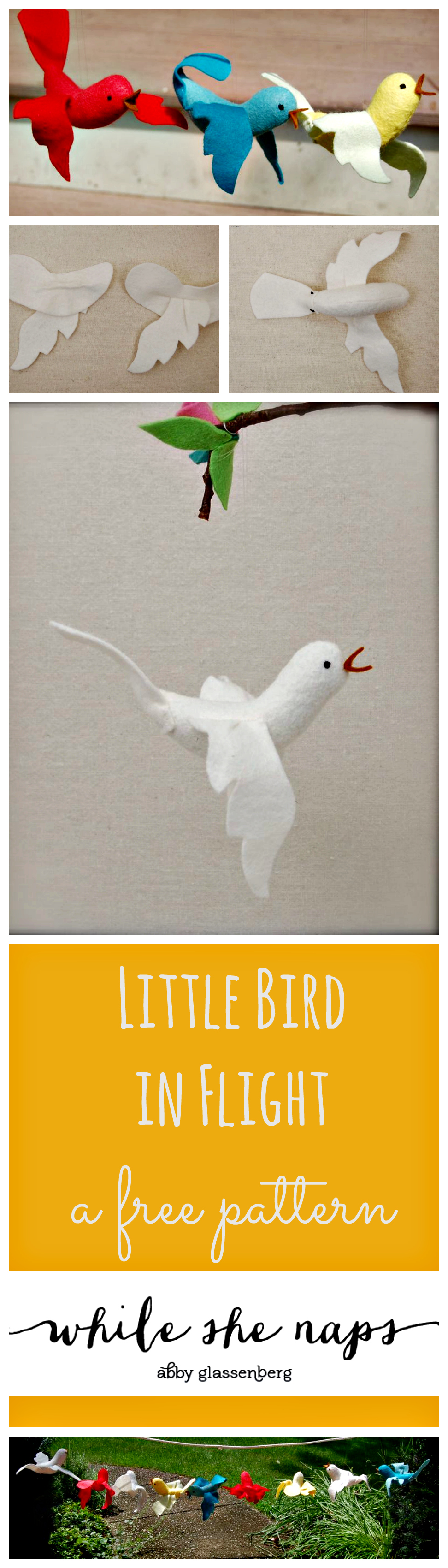 Little Bird in Flight, a free pattern.
