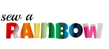 Sew a rainbow graphic