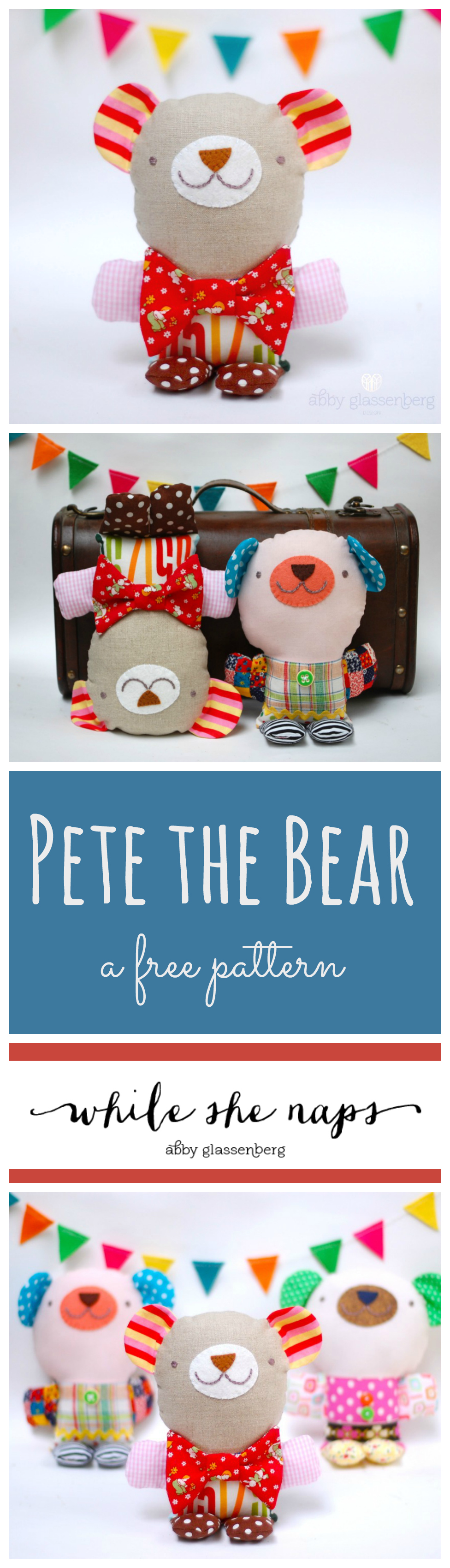 A free pattern for Pete the Bear.