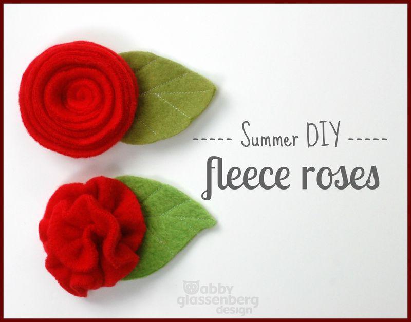 Summer DIY Fleece Roses