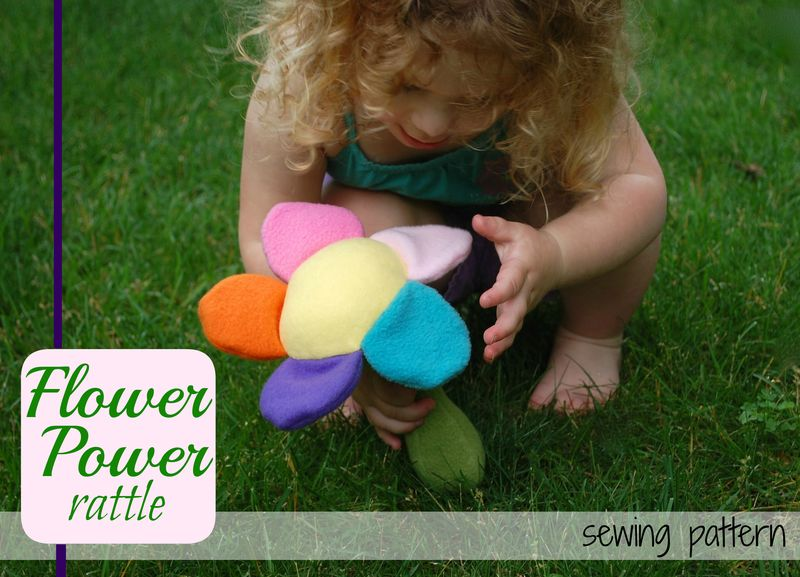 Flower power rattle cover