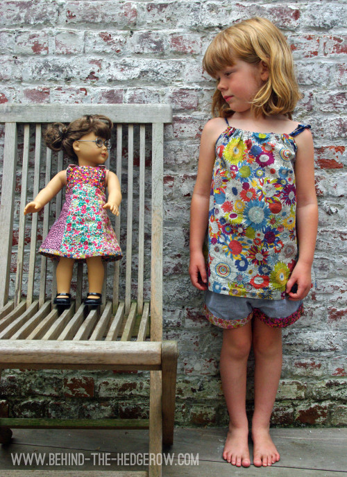 Liberty-dress-turned-into-top-and-olivers-tea-party-doll-dress-side-by-side